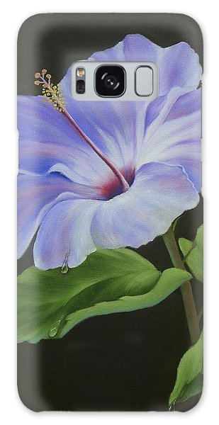 Lavender Hibiscus Galaxy Case