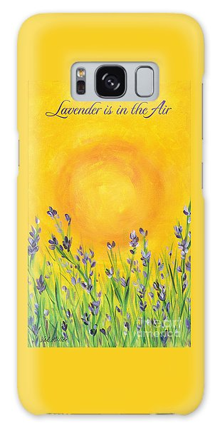 Lavender In The Air Galaxy Case by Val Miller