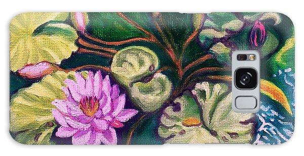 Lavender Lotus Flower Galaxy Case