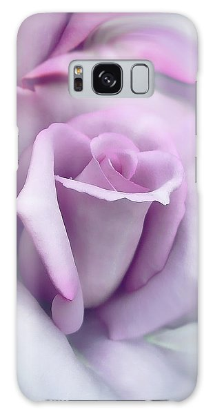 Lavender Rose Flower Portrait Galaxy Case