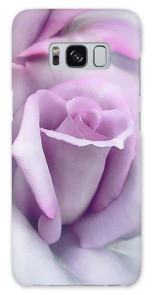 Lavender Rose Flower Portrait Galaxy Case