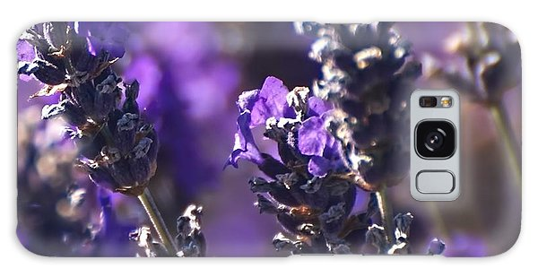 Lavender Stems Galaxy Case
