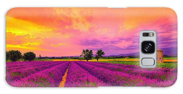 Lavender Sunset Galaxy Case