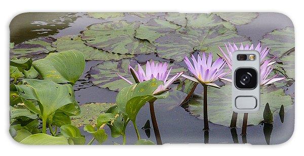 Lavender Waterlilies Galaxy Case