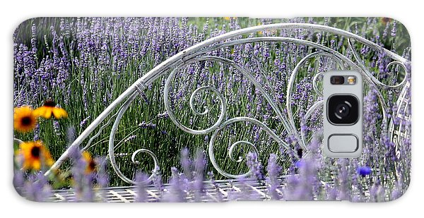 Lavender With Scrolled Settee Galaxy Case
