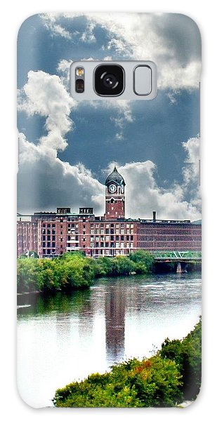 Lawrence Ma Historic Clock Tower Galaxy Case by Barbara S Nickerson