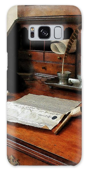 Lawyer - Quill Papers And Pipe Galaxy Case by Susan Savad