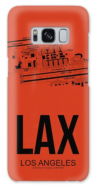 Travel Galaxy Case - Lax Los Angeles Airport Poster 4 by Naxart Studio