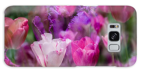 Layers Of Tulips Galaxy Case by Penny Lisowski