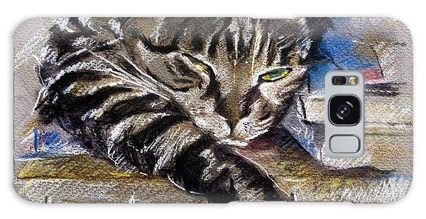 Lazy Cat Portrait - Drawing Galaxy Case