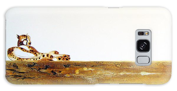 Lazy Dayz Cheetah - Original Artwork Galaxy Case