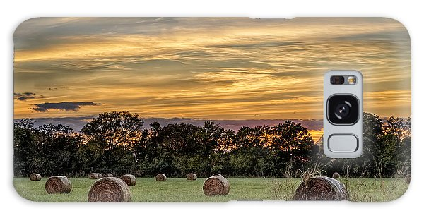Lazy Hay Bales Galaxy Case