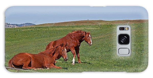 Lazy Horses Galaxy Case by Valerie Garner