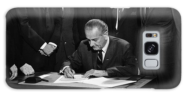 Lbj Signs Civil Rights Bill Galaxy Case