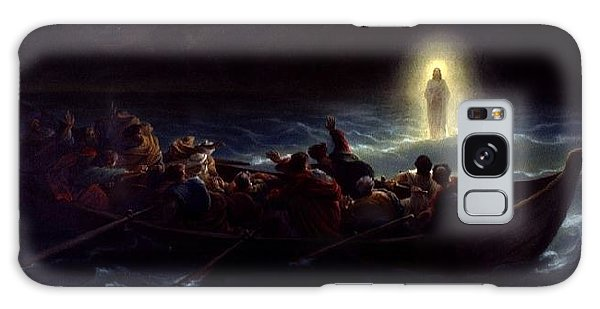 Le Christ Marchant Sur La Mer Galaxy Case by Amedee Varint