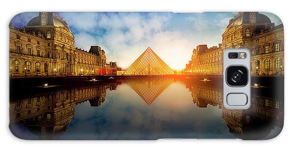 French Galaxy Case - Le Louvre by Massimo Cuomo