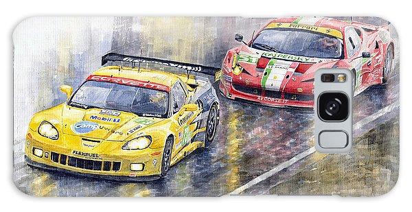 Car Galaxy S8 Case - 2011 Le Mans Gte Pro Chevrolette Corvette C6r Vs Ferrari 458 Italia by Yuriy Shevchuk