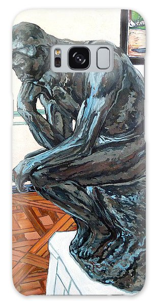 Galaxy Case featuring the painting Le Penseur The Thinker by Tom Roderick