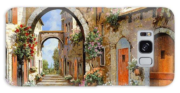 Door Galaxy Case - Le Porte Rosse Sulla Strada by Guido Borelli