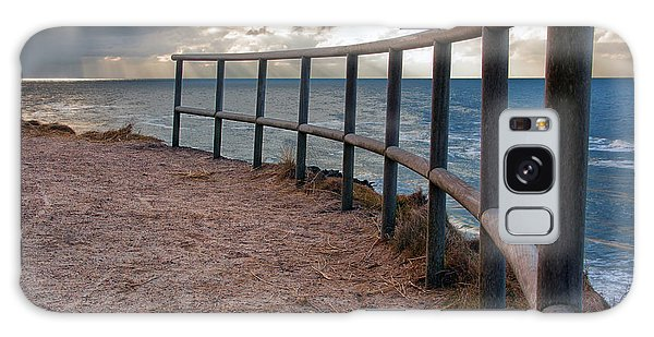 Rail By The Seaside Galaxy Case by Mike Santis