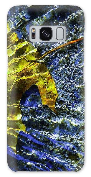 Leaf In Creek - Blue Abstract Galaxy Case by Darryl Dalton