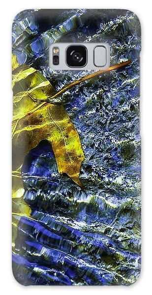 Leaf In Creek - Blue Abstract Galaxy Case