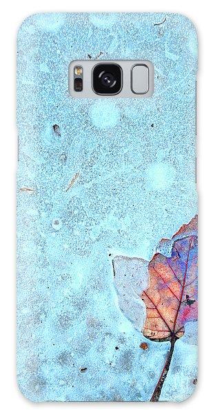 Leaf In Ice Galaxy Case by Todd Breitling