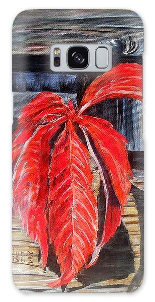 Leaf Shadow 2 Galaxy Case by Marilyn  McNish