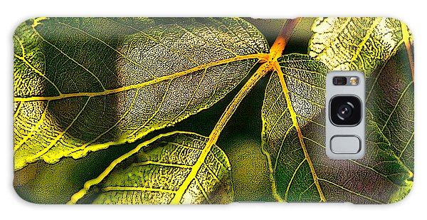 Leaf Texture Galaxy Case