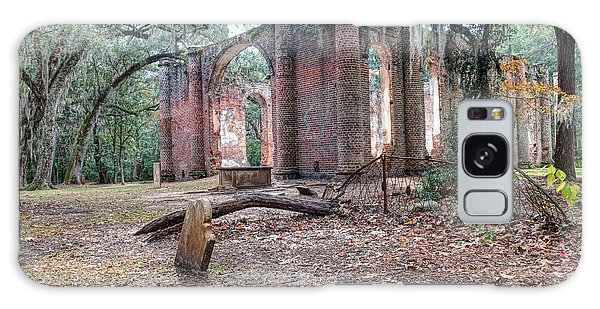 Leaning Tomb - Old Sheldon Church Ruins Galaxy Case