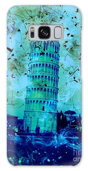 Leaning Tower Of Pisa 3 Blue Galaxy Case