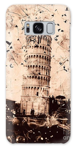 Leaning Tower Of Pisa Sepia Galaxy Case