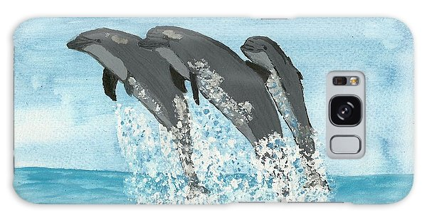 Leaping Dolphins Galaxy Case