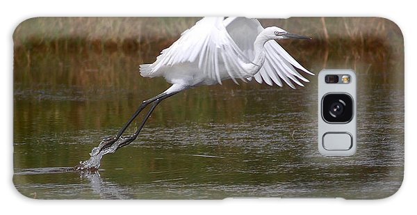 Leaping Egret Galaxy Case by Leticia Latocki
