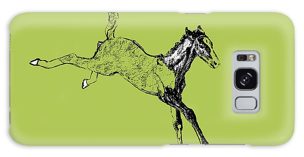 Horse Galaxy Case - Leaping Foal Greens by JAMART Photography