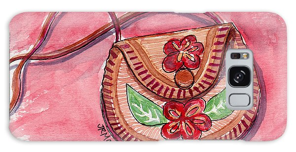 Leather Flowered Pouch Galaxy Case