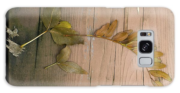 Leaves On A Wooden Step Galaxy Case