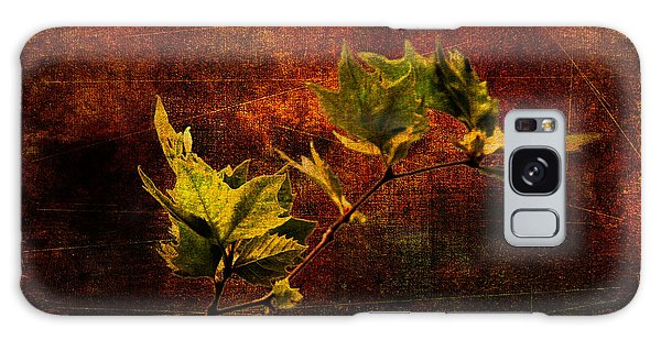 Leaves On Texture Galaxy Case