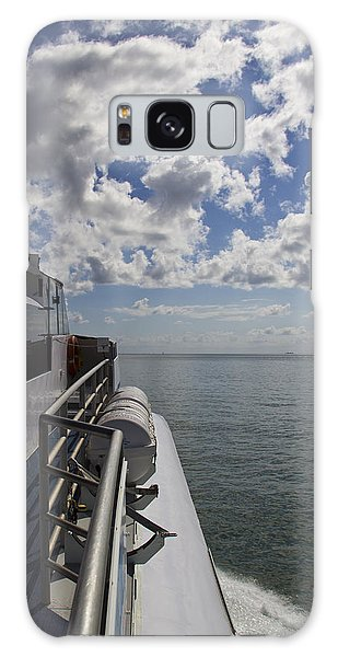 Galaxy Case featuring the photograph Leaving The Channel by Debbie Cundy