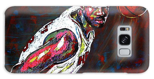 B B King Galaxy Case - Lebron James 2 by Maria Arango