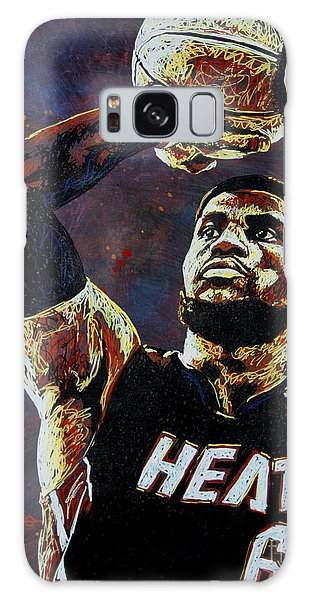 B B King Galaxy Case - Lebron James Mvp by Maria Arango