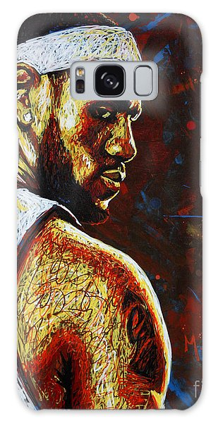 B B King Galaxy Case - Lebron  by Maria Arango