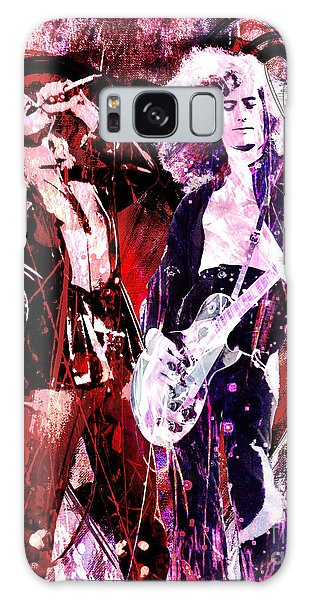 Led Zeppelin Galaxy S8 Case - Led Zeppelin - Jimmy Page And Robert Plant by Ryan Rock Artist