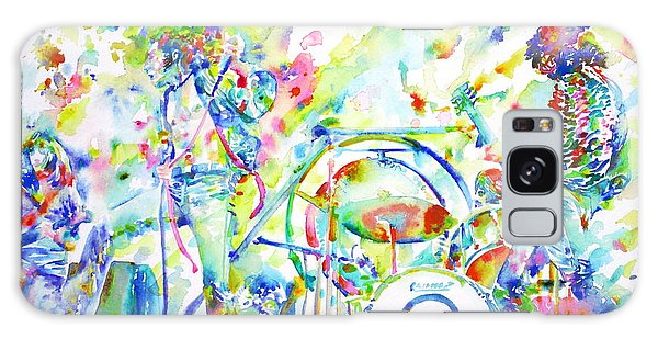Led Zeppelin Live Concert - Watercolor Painting Galaxy Case