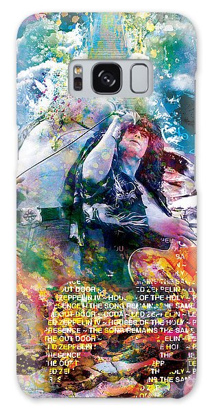 Led Zeppelin Original Painting Print  Galaxy Case