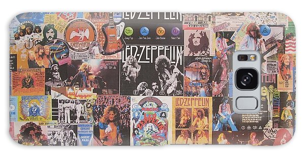 Drum Galaxy S8 Case - Led Zeppelin Years Collage by Donna Wilson