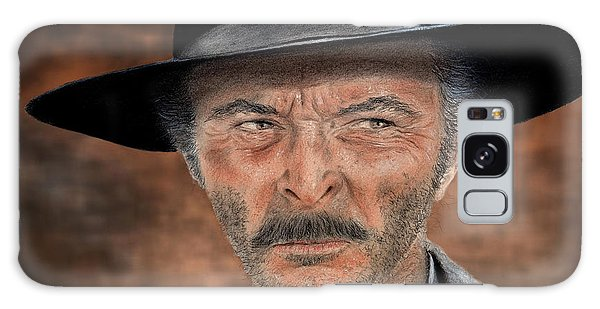 Lee Van Cleef As Angel Eyes In The Good The Bad And The Ugly Version II Galaxy Case by Jim Fitzpatrick