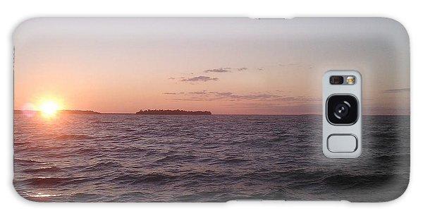 Leech Lake Sunset Galaxy Case