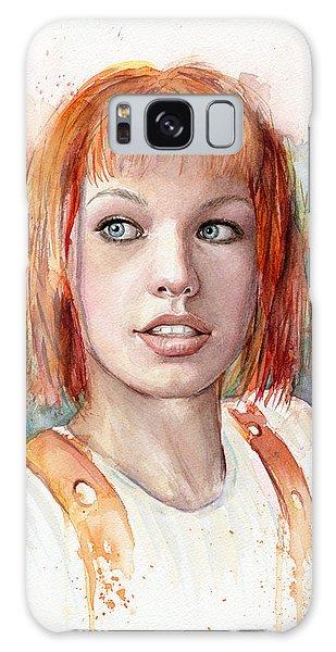 Leeloo Portrait Multipass The Fifth Element Galaxy Case by Olga Shvartsur