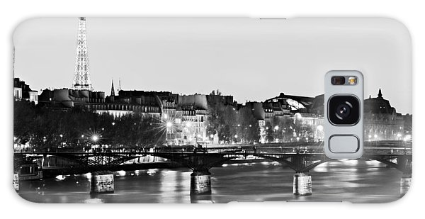 Galaxy Case featuring the photograph Left Bank At Night / Paris by Barry O Carroll